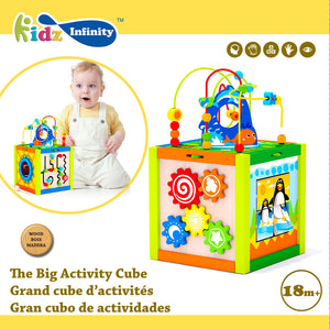 The Big Activity Wooden Cube, Wooden Educational Toy