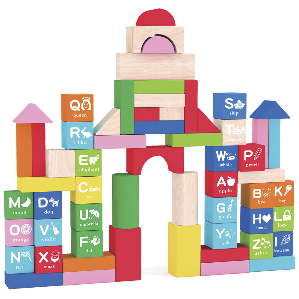 100pcs Education Wooden Building Blocks, Wooden Educational Toy
