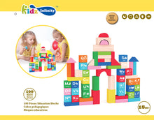 Load image into Gallery viewer, 100pcs Education Wooden Building Blocks, Wooden Educational Toy