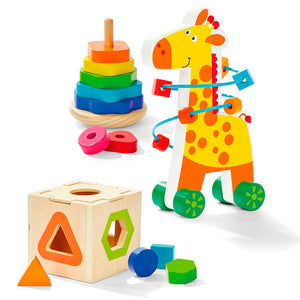 3 Pack Wooden Trio, Wooden Educational Toy