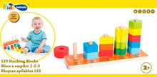 Load image into Gallery viewer, Wooden 123 Stacking Block, Wooden Educational Toy