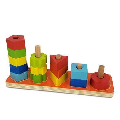 Wooden 123 Stacking Block, Wooden Educational Toy