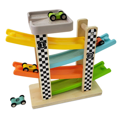 4 Level Wooden Ramp Racer, Wooden Educational Toy