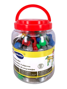 Sockets Building - 80 pcs in Bucket, Educational Toy for Toddlers and Kids of 3+