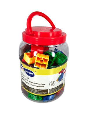 Building Blocks Set - 72 pcs in Bucket, Educational Toy for Toddler and Kid