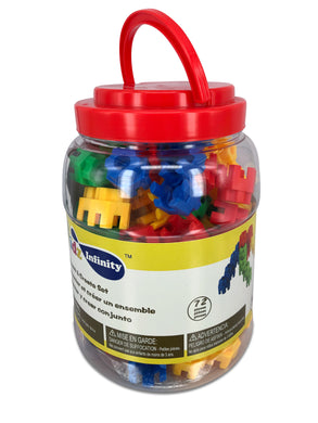 Geometrics Building Set - 70 pcs in Bucket, Educational Toy for Toddlers and Kids of 3+
