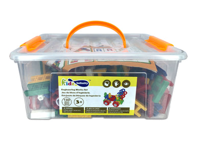 Engineering Blocks Set - Activity Box 220 pcs, Educational Toy for Toddlers and Kids of 3+