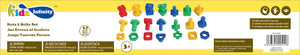 Nuts & Bolts Set - 32 pcs in Bucket, Educational Toy for Baby, Toddler, and Kid