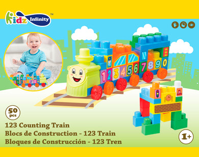 50 pcs 123 Counting Train Mega Block, Educational Toy for Baby, Toddler