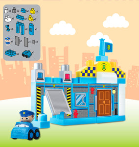 23 pcs My 1st Police Station Mega Blocks, Educational Toy for Baby, Toddler, and Kid