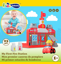 Load image into Gallery viewer, 23 pcs My 1st Fire Station Mega Blocks, Educational Toy for Baby, Toddler, and Kid