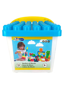 20pcs Mega Blocks, assorted Square and Round Buckets, Educational Toy for Baby, Toddler, and Kid of 1+ | Kidz Infinity