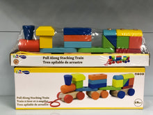 Load image into Gallery viewer, Wooden Pull Along Stacking Train, Wooden Educational Toy