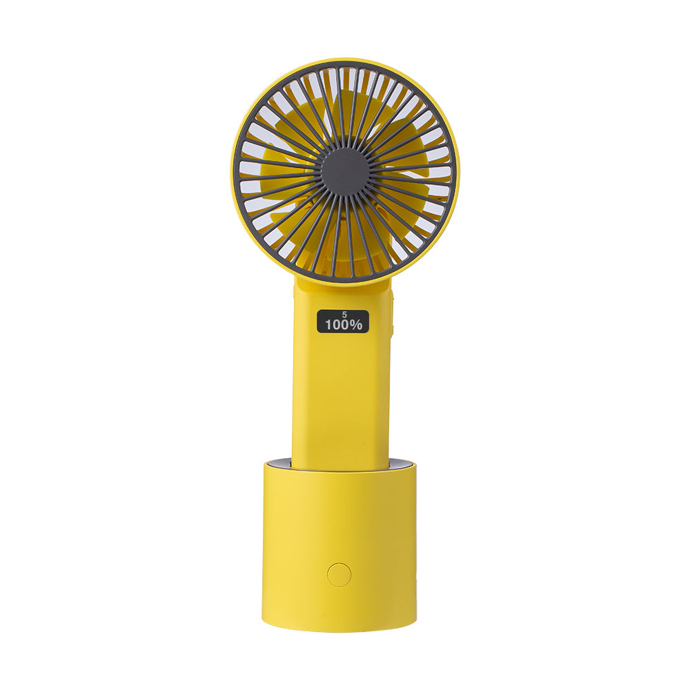 Osci-Fan Pro Desktop/Handheld Fan, Horizontal Oscillation + Vertically Adjustable Fan Head, USB Rechargeable