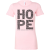 HOPE. Women's Fitted Tee - 17 Colors - Life Petals Boutique & Blog