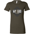 My God Is Fierce Women's Fitted Tee