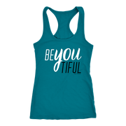 BeYouTiful. Women's Racer Back Tank - 14 Colors - Life Petals Boutique & Blog