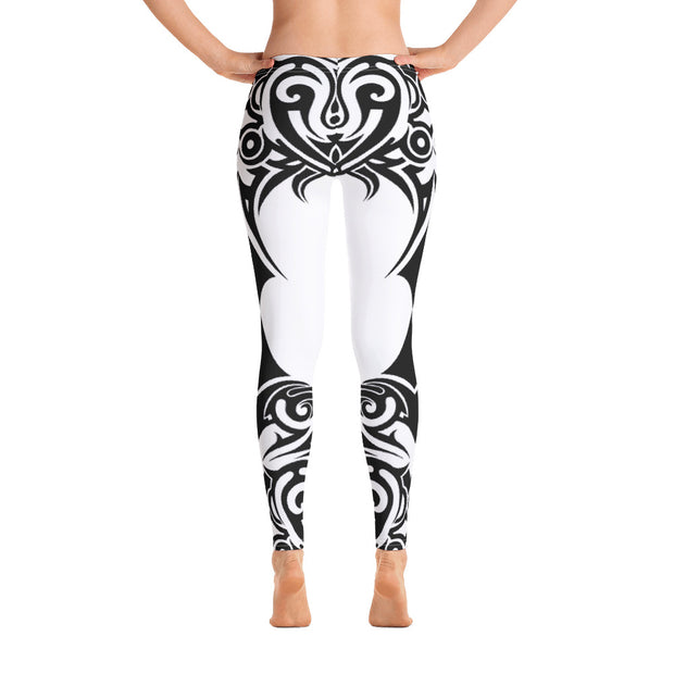 Tribal Butterfly Women's White Leggings - Life Petals Boutique & Blog