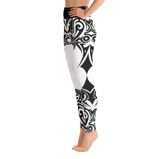 Tribal Butterfly Women's Yoga Leggings w/ Pocket - Life Petals Boutique & Blog