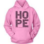 HOPE. Unisex Hoodie -12 Colors - Life Petals Boutique & Blog