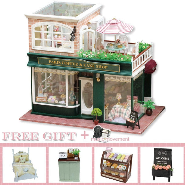 Royal Furnished Wooden Dollhouse