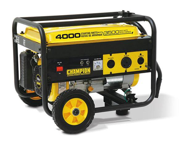 Champion 46597 3500/ 4000 watts Generator - Wheel Kit Included