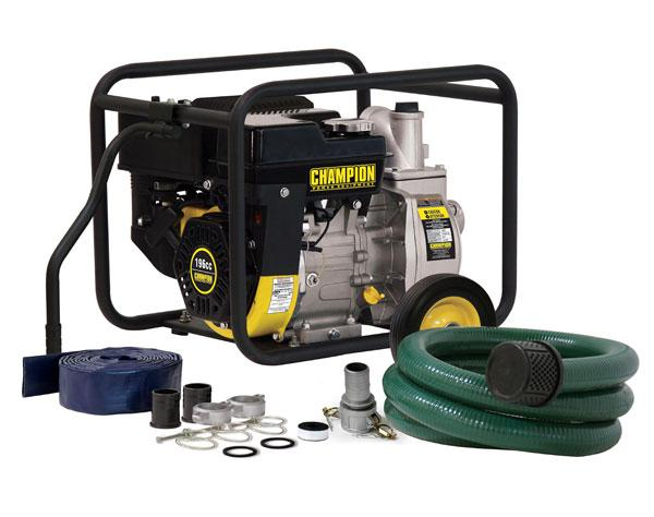 "Champion 66520 2"" Semi-Trash Pump with Hose Kit"