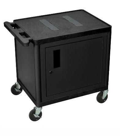 Luxor Endura A/V Cart 2 Shelves Black