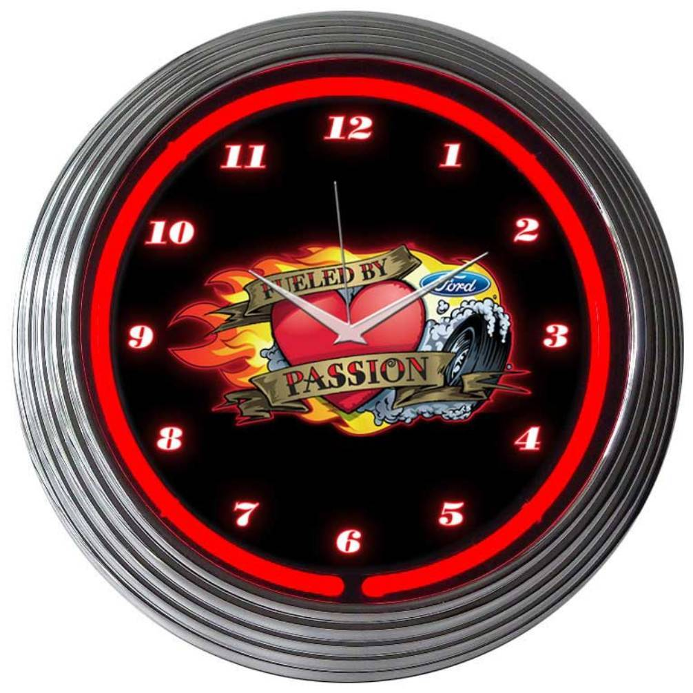 Neonetics FORD FUELED BY PASSION NEON CLOCK