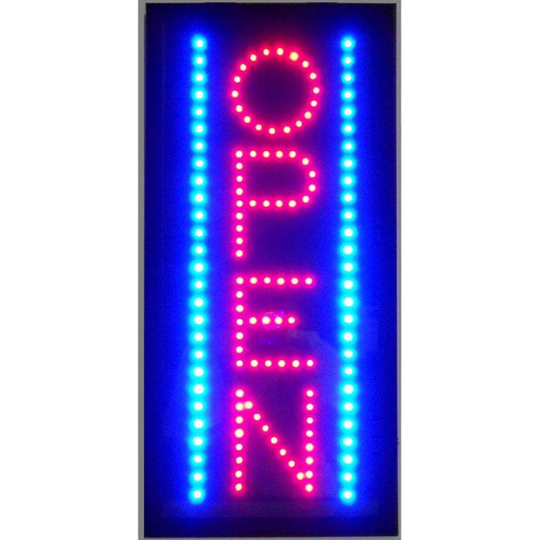 Neonetics Open Vertical Led Sign
