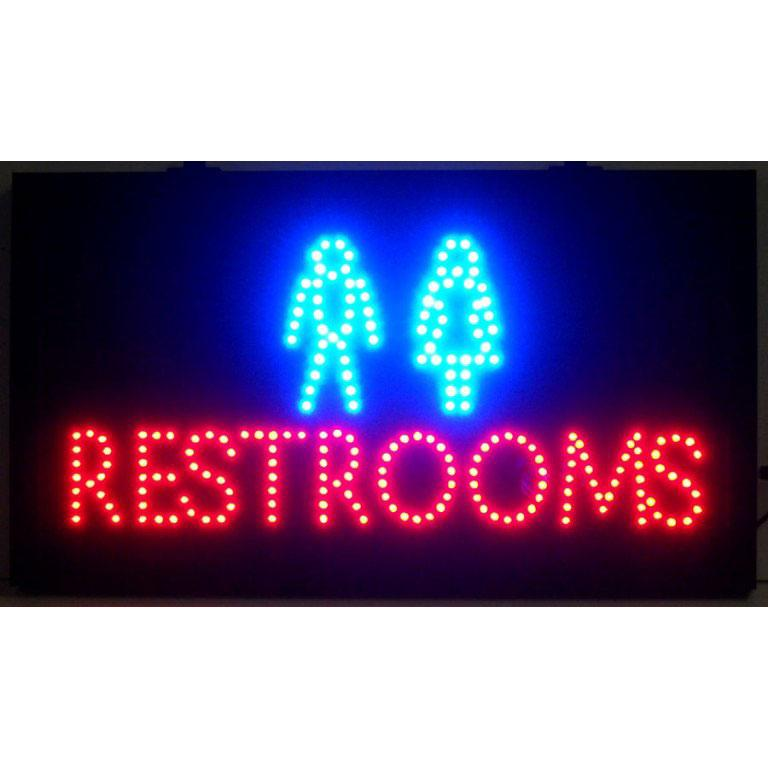 Neonetics RESTROOMS LED SIGN
