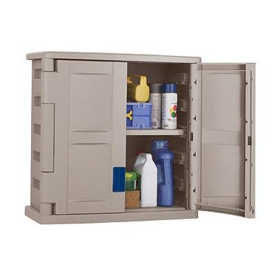 Suncast Storage Trends 2 Door Wall Utility Resin Cabinet - Taupe