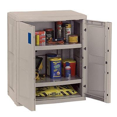 Suncast Storage Trends Base Utility Resin Cabinet - Taupe