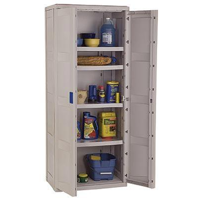 Suncast Storage Trends Tall Utility Resin Cabinet - Taupe