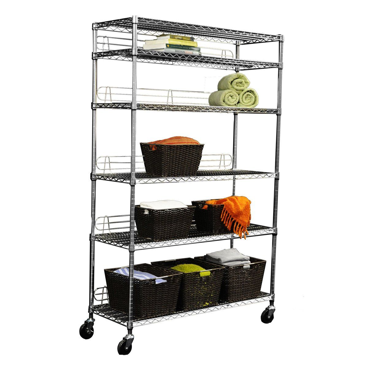 Trinity 6-Tier EcoStorage™ Wire Shelving Rack
