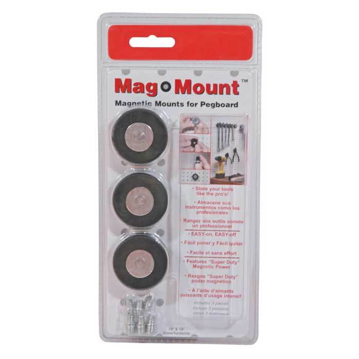 Triton - Magnetic HD Mag Mount for Pegboard - 3 Pc