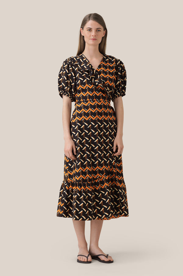 River SS Midi Dress