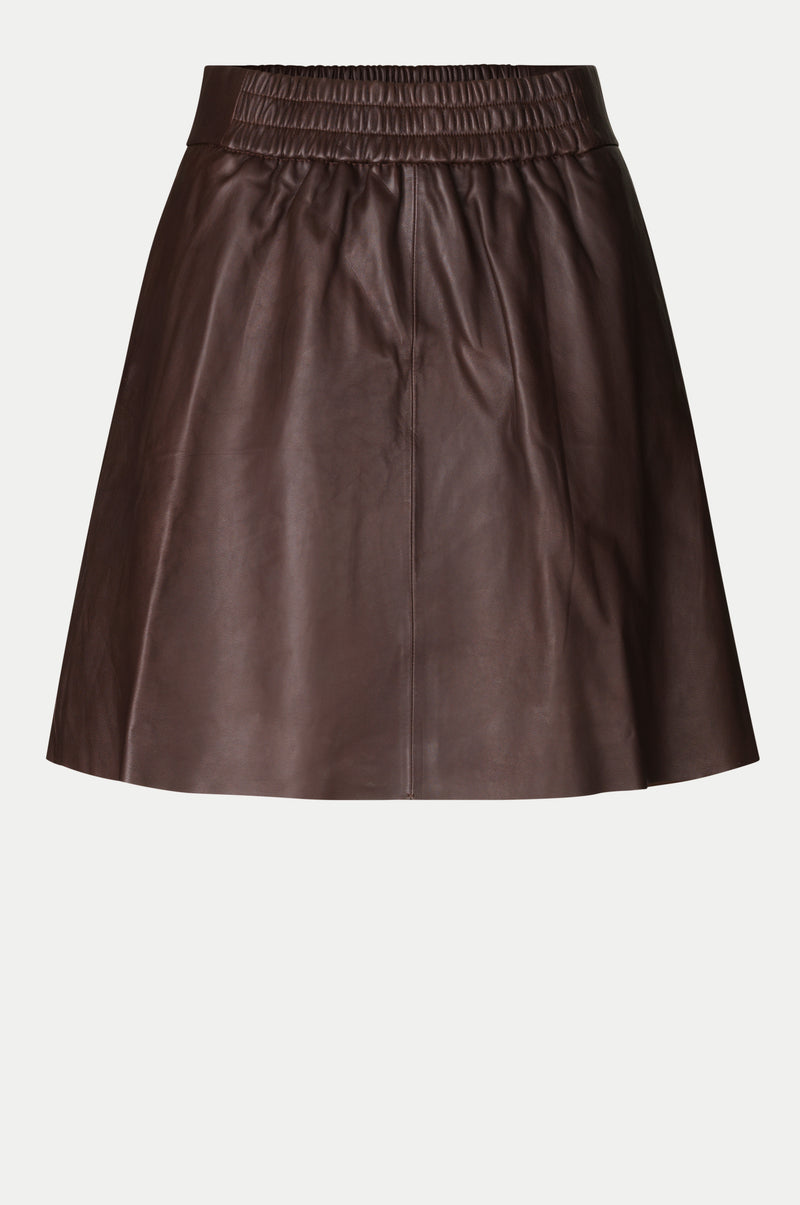Melvin Leather Mini Skirt
