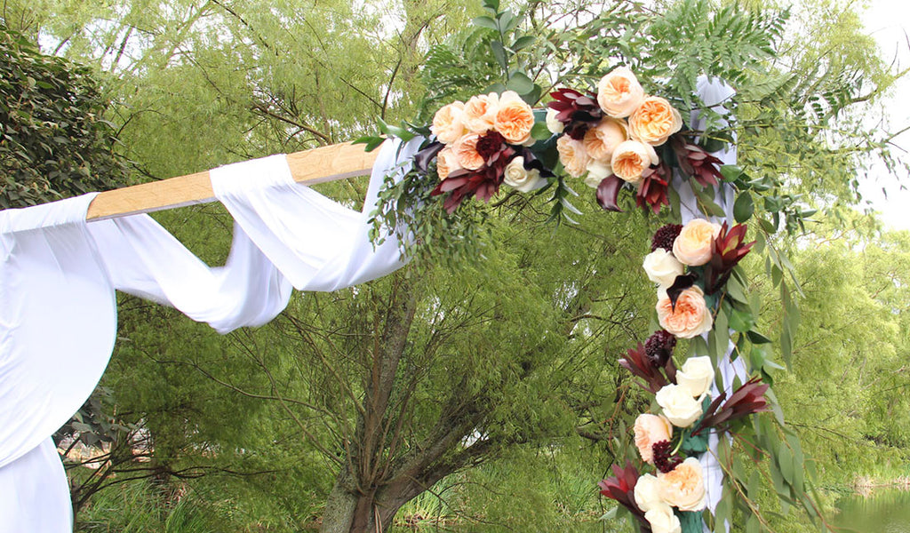 How To Make A Diy Wedding Arch For Your Spring Wedding Enjoy Flowers Events