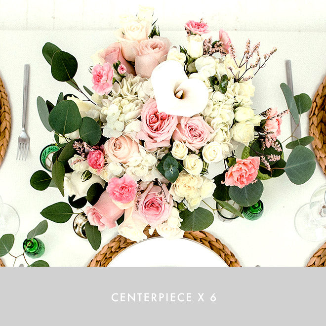 Centerpiece x6 | Blushing Love