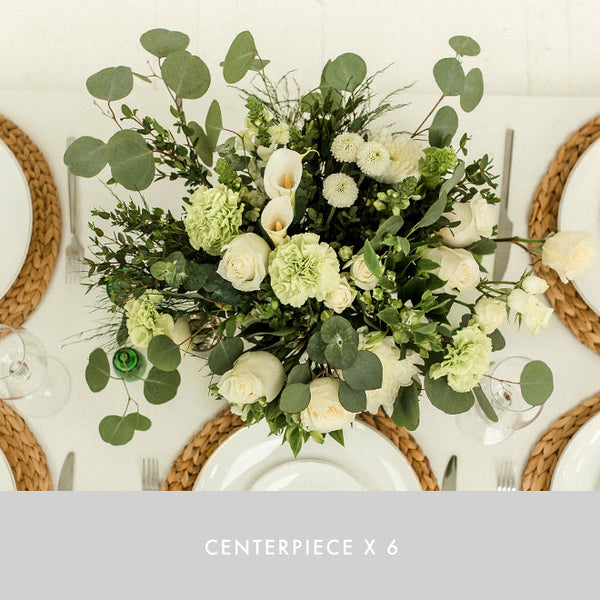 Centerpiece x6 | Bohemian Green