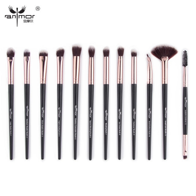 12pc Makeup Brush Set