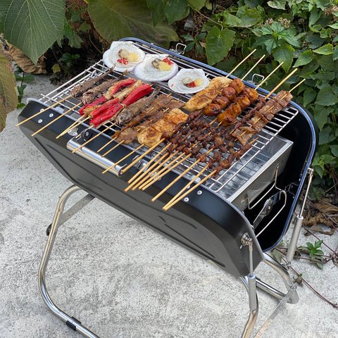 Portable Charcoal Grill, Portable Folding Grill, Outdoor Cooking Grill, Camping Picnic Backyard Cooking