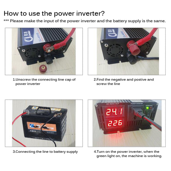How to use powe inverter