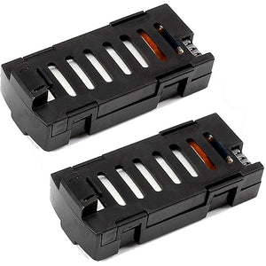 2 Pack 3.7V 500mAh Lithium Battery for SG800/LF606/D2/S606/M9 FPV RC Drone