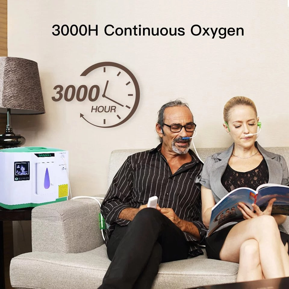 DEDAKJ DE-2AW 2-9L/min Oxygen Concentrator Generator Portable Oxygen Machine O2 Generator with Atomization Function