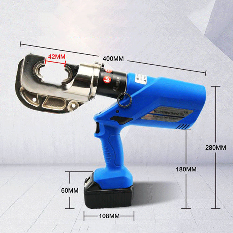 16-400mm²  Rechargeable Electric Hydraulic Plier Battery Wire Crimpers Powered Crimping Tool Set
