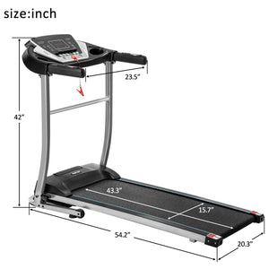 Folding Treadmill Motorized Running and Jogging Fitness Machine for Home Gym with 12 Preset Programs