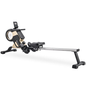 Magnetic Rowing Machine Folding Exercise Rower LED Monitor and 8-Level Resistance Adjustment Fitness Equipment for Home Gym