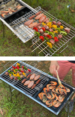 Charcoal Grill Folding BBQ Camping Grill Large Portable Camping Cooking for Travel Grill Outdoor